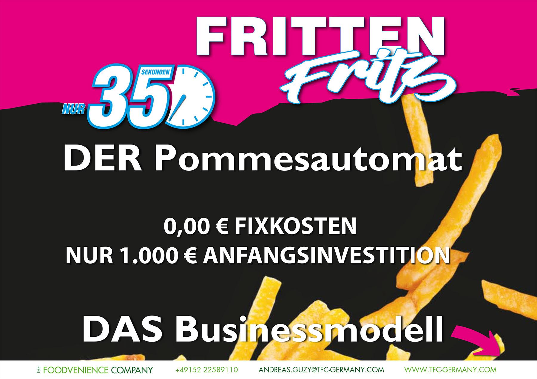 The Foodvenience Company - Dessau-Roßlau - Sachsen-Anhalt - Fritten Fritz - Frittenautomat